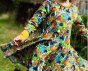 teal mushroom dress